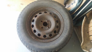 Winter Steel rims and tires  for winter Kitchener / Waterloo Kitchener Area image 2