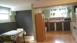 Spacious bright furnished 1 BR SUITE  1500 (June to Sept)