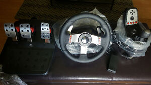Logitech G27 force feedback wheel and pedal set