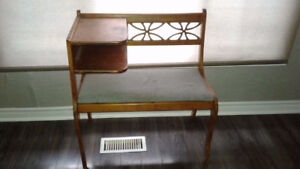 Retro telephone bench with table