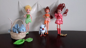 Tinkerbell, Fawn and Rosetta Dolls