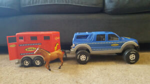 Tonka Truck and Horse Trailer