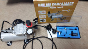 New Airbrushes and mini compressor