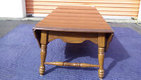 1979 Canadian Made VILAS Maple Double Drop Leaf Coffee Table