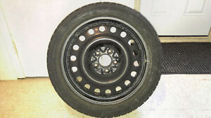 Weathermate Arctic snow tires on rims 215 45 17 91H
