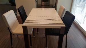 Abstract Dining Table Set - 4 Seaters