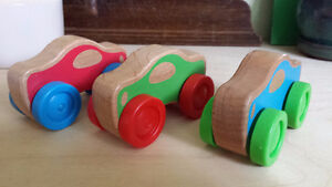 Assorted Wooden Cars
