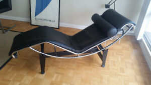Original Numbered & Signed Le Corbusier Chaise Italian Leather