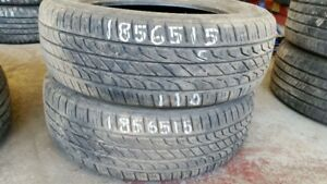 Pair of 2 Toyo Extensa AS 185/65R15 tires (60% tread life)