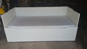 White Ikea Day bed with trundle