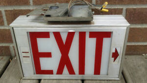 Metal Hard Wired EXIT Sign