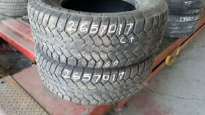 Pair of 2 Motomaster Total Terrain AT2 265/70R17 tires (65% trea