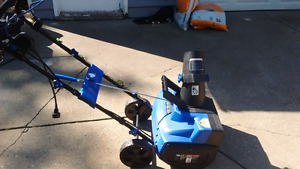 Small electric snowblower in good working condition