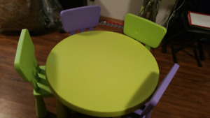 Ikea childrens table and 4 chairs