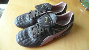 PUMA running shoes BROWN & PINK  Size 8