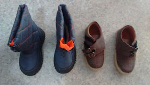 Baby boy shoes, boots, almost new(6-24 mths)