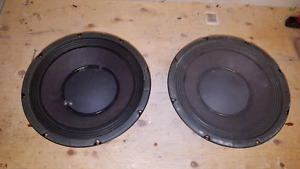 "Make an offer- Two Peavey 10"" bass cab speakers"