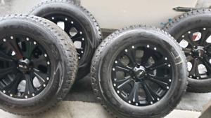 """18"""" HELO RIMS WITH TIRES FOR JEEPS (NEW)"""
