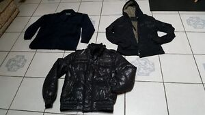 Size boys XXL, Mens XL and Mens Large coats and jackets