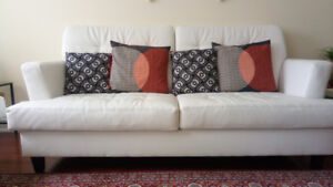 GOOD CONDITION FAUX LEATHER SOFAS FOR SALE-SET OF 2!!!