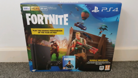 2 weeks old slim PlayStation PS4 Fortnite edition voucher not included, used for sale  East End, Glasgow