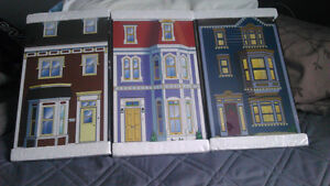 BEAUTIFUL 3 LARGE JELLYBEAN ROW HOUSES