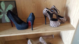 5 pairs of high heels size 8 (a bit small)worn once and some new