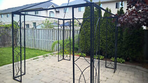 8.5 x 8.5 Black Gazebo with modern look for sale