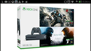 Xbox One S special edition Halo x Gears of War (500gb)