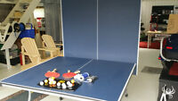 Table de ping pong pliante