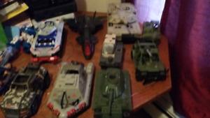 Gi Joe lot of vehicles 60$