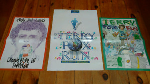 3 laminated Terry Fox posters