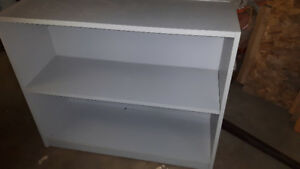 Grey book case