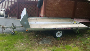 Single snowmobile/atv trailer