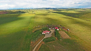 2 TITLES - RANCH - FULL MOUNTAIN VIEWS - 8 MINS NORTH COCHRANE