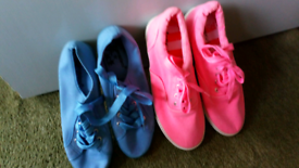 Two pairs brand new size 6 canvas shoes