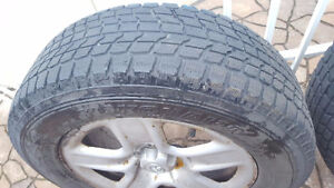 4 winter tires on rims West Island Greater Montréal image 1