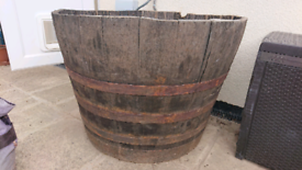 Half 120 gallon whisky barrel