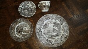 Gorgeous vintage Staffordshire Myott porcelain dishes