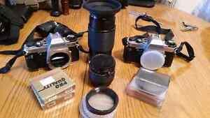 Pentax cameras and lens