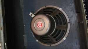 "Vintage 10 inch 8 ohms in ''original suitcase"" cab."