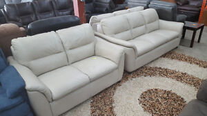 2 Piece white couch and loveseat - Delivery Available