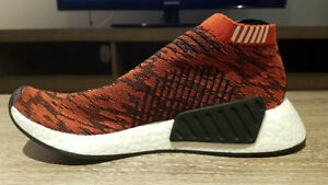 Adidas NMD City Sock CS2 Future Glitch Tiger Red. US Men 8.5