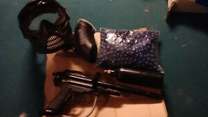 PMI Paintball gun and accessories