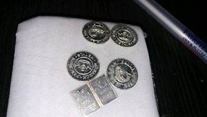 One gram silver pieces