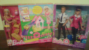 Barbie Pink Passport & Puppy Play Park