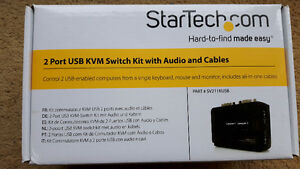 StarTech SV211KUSB 2 Port Mini USB KVM Kit +Cables &Audio switch