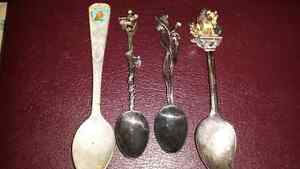 Set of 4 Vintage Collector Spoons