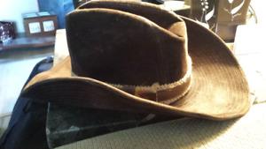 Nice-Vintage-Beautiful-Brown-Lanning--Cowboy-Hat-Rare-