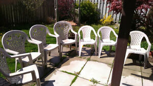 (7) Used Lawn/patio chairs